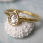 22CT & Rose Cut Diamond Ring by Alexis Dove