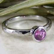 Pink Sapphire Beaten Ring by Alexis Dove