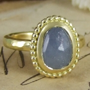 Pale Blue Sapphire India Ring by Alexis Dove
