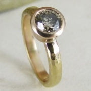 Vintage Cinnamon Diamond Rose Gold Ring by Alexis Dove