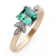 Tourmaline and Gold Ring