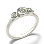 9ct white gold band set with brilliant cut white diamonds