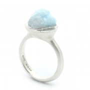 Raw Aquamarine Crystal Ring