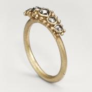 Five Stone Granule Ring