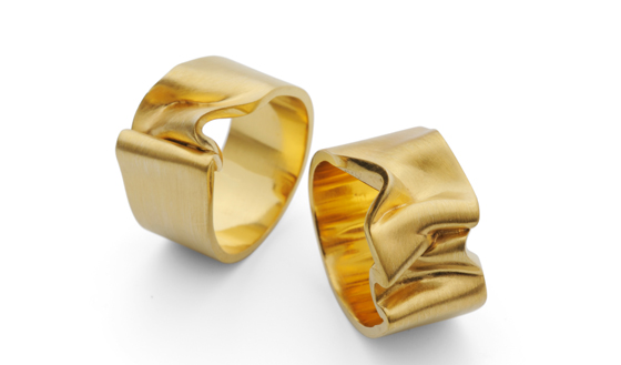 Large Ribbon Rings by Jessica Poole