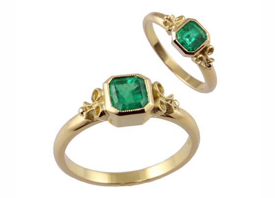 18 carat emerald rings by Jana Reinhardt