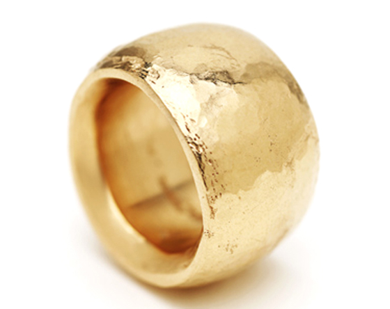 Gold ring by Tina Engell