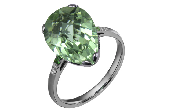 Green Tear Ring by Fei Liu