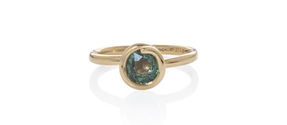 Green sapphire by Jo Bell