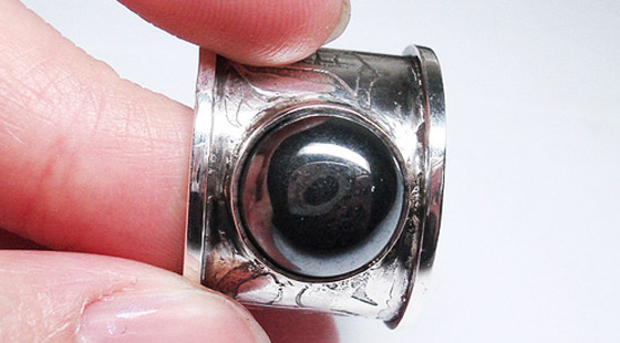 Black Etched Pipe Ring for Bryan by Yolanda Chiu, used under a Creative Commons License (http://creativecommons.org/licenses/by/2.0/legalcode)