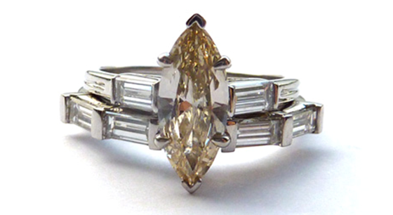 SLIGHTLY COLOURED DIAMOND RING DESIGNED BY SOPHIE BREITMEYER, LONDON