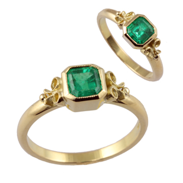 Jana Reinhardt's emerald engagement ring encapsulates the beauty of bespoke.