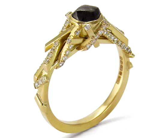 Black Engagement Ring by Jessica Poole