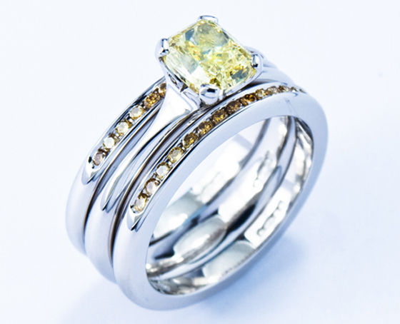 Yellow Rings by Jon Dibben