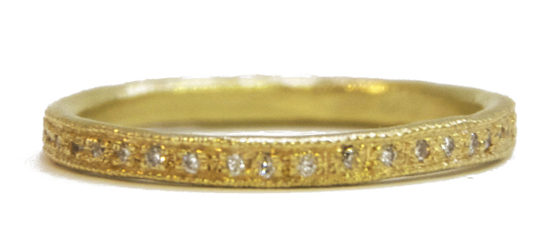 Yellow eternity ring by Mia Chicco