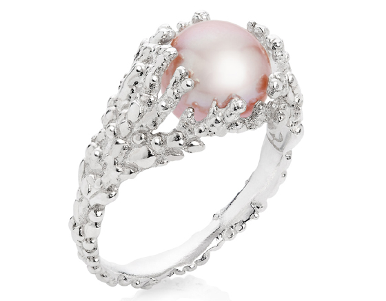 Coralline Reef Silver Ring by Ornella Iannuzzi