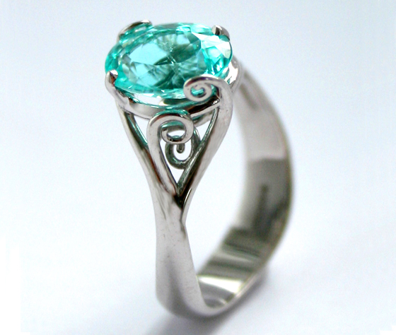 Paraiba Tourmaline Ocean ring by Serena Fox