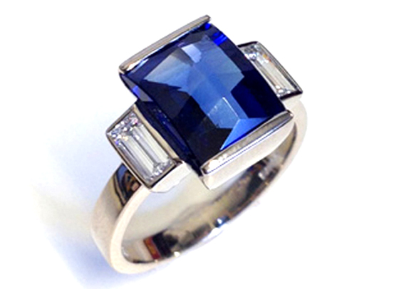 Art Deco Sapphire and Diamond Ring by Beth Gilmour