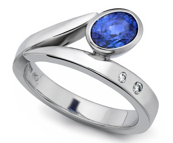Blue Flick Ring by Andrew Leggett