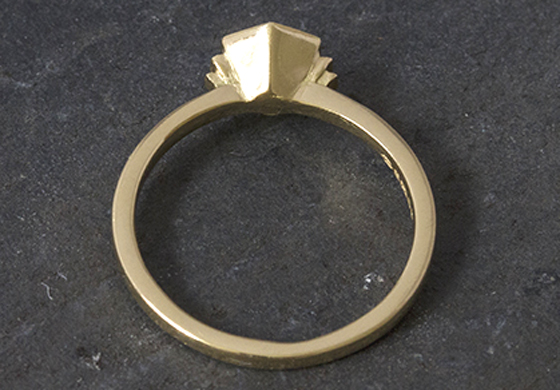 Ring with Art Deco Detail by Mairi Burrow