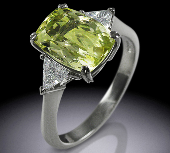 Simon Wright's Exquisite Yellow Beryl and Diamond Ring