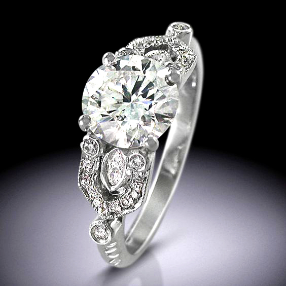 Vintage Art Deco Style engagement ring