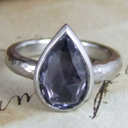 Grey Sapphire Rose Cut by Alexis Dove