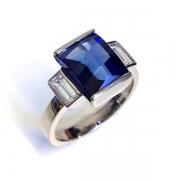Art Deco Sapphire Diamond