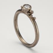 Three Diamond Cluster Ring
