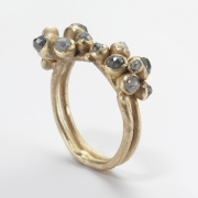 Double Cluster Diamond Ring