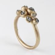 Grey Cluster Diamond Ring