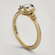 Single Stone Beaded Ring